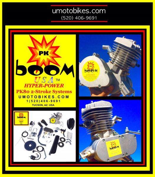 PK BOOM (TM) 66/80CC HYPERPOWER 2-STROKE BICYCLE MOTOR KIT