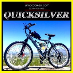 DO-IT-YOURSELF U-MOTO QUICKSILVER TM 2-STROKE MOTORIZED MOUNTAIN BIKE SYSTEM