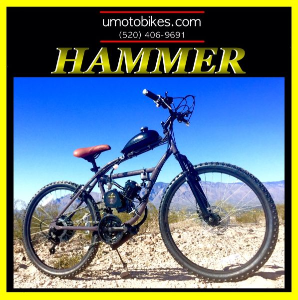 DO-IT-YOURSELF U-MOTO HAMMER TM 2-STROKE MOTORIZED MOUNTAIN BIKE SYSTEM