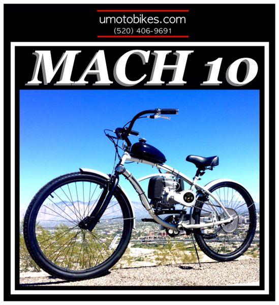 DO-IT-YOURSELF U-MOTO 4-STROKE MACH 10 (TM) CRUISER MOTORIZED BICYCLE SYSTEM