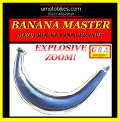 2-STROKE MOTORIZED BICYCLE BANANA MASTER TM EXPANSION CHAMBER EXHAUST