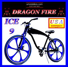 "U-MOTO ICE 9 TM 29"" GAS TANK CRUISER BICYCLE FOR 2-STROKE 48CC 66CC 80CC BICYCLE MOTOR KITS"
