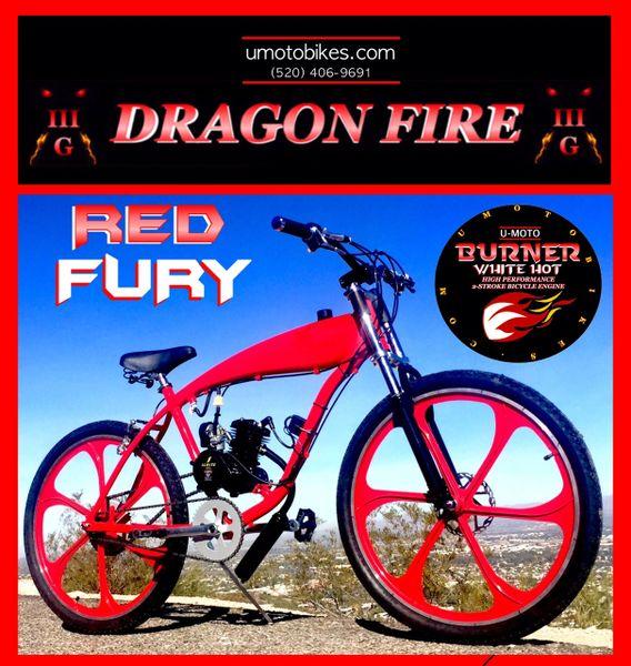 DO-IT-YOURSELF DRAGON FIRE 3G RED FURY (TM) 2-STROKE GAS TANK FRAME CRUISER