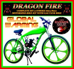FULLY-MOTORIZED DRAGON FIRE 3G GLOBAL WARMING (TM) 2-STROKE GAS TANK CRUISER