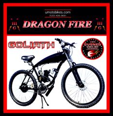 FULLY-MOTORIZED DRAGON FIRE 3G GOLIATH (TM) 2-STROKE GAS TANK CRUISER