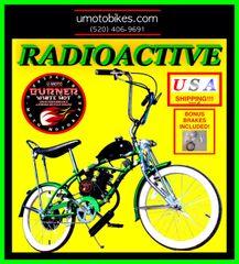 "DO-IT-YOURSELF U-MOTO 66CC/80CC 2-STROKE RADIOACTIVE (TM) 20"" LOW RIDER CRUISER MOTORIZED BICYCLE SYSTEM"