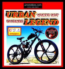 DO-IT-YOURSELF U-MOTO URBAN LEGEND (TM) 2-STROKE MAG WHEEL MOUNTAIN BIKE
