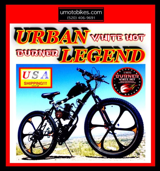DO-IT-YOURSELF U-MOTO URBAN LEGEND (TM) 2-STROKE MAG WHEEL MOUNTAIN BIKE