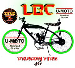 DO-IT-YOURSELF DRAGON FIRE 4G LBC (TM) 2-STROKE GAS TANK FRAME BIKE GREEN