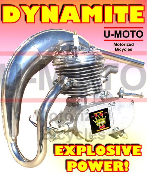 U-MOTO POWER KING (TM) 66/80CC DYNAMITE TM HIGH PERFORMANCE 2-STROKE BICYCLE MOTOR KIT