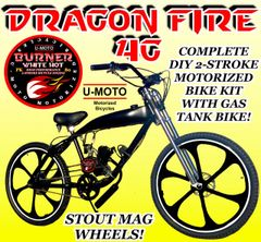 DO-IT-YOURSELF DRAGON FIRE IMPERIAL MIGHT 4G (TM) 2-STROKE GAS TANK FRAME CRUISER