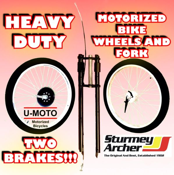"26"" HEAVY DUTY COMPLETE WHEELS FOR MOTORIZED BIKE"
