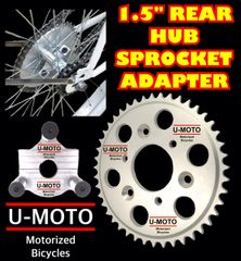 "44T REAR WHEEL MOTOR SPROCKET AND 1.5"" HUB ADAPTER"
