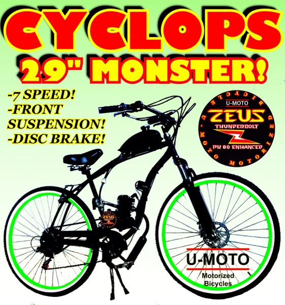 "DO-IT-YOURSELF CYCLOPS (TM) 2-STROKE 29"" CRUISER"
