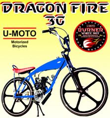 DO-IT-YOURSELF DRAGON FIRE 3G SUPER MOTO (TM) 2-STROKE GAS TANK FRAME CRUISER