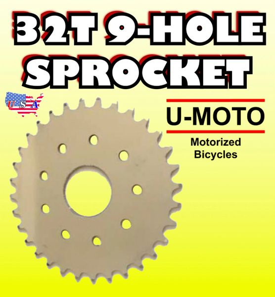 MOTORIZED BICYCLE 32-TOOTH SPROCKET 9-HOLE