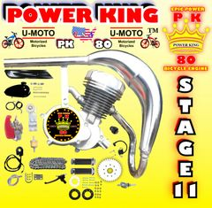 U-MOTO POWER KING (TM) 66/80CC TM STAGE 11 HIGH PERFORMANCE 2-STROKE BICYCLE MOTOR KIT