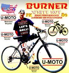 U-MOTO DO-IT-YOURSELF 2-STROKE BURNER (TM) MOTORIZED MOUNTAIN BIKE
