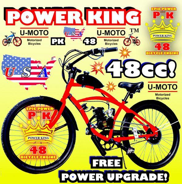 DO-IT-YOURSELF U-MOTO 2-STROKE ZOOM EZ 2S (TM) MOTORIZED BICYCLE SYSTEM