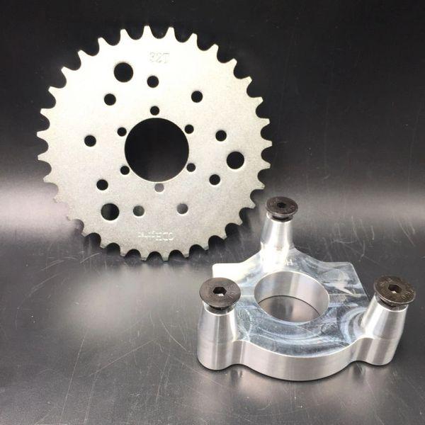 "MOTORIZED BICYCLE CNC 1.5"" Rear Hub Adapter & Multifunctional 32 Teeth Sprocket 3+6+9 holes"
