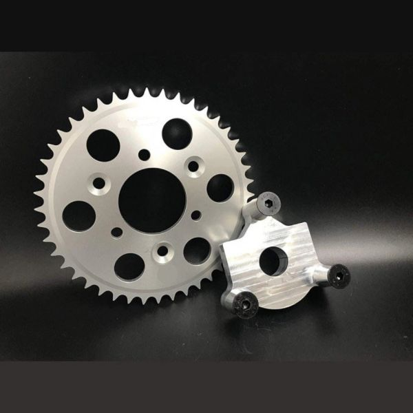 "MOTORIZED BICYCLE CNC Rear Hub Adapter 1"" and 40T CNC Sprocket"