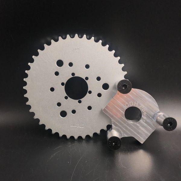 "MOTORIZED BICYCLE CNC 1"" Rear Hub Adapter & Multifunctional 40 Teeth Sprocket 3+6+9 holes"