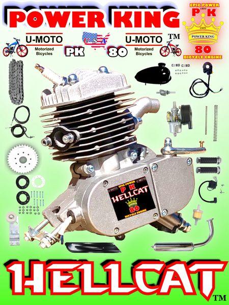 U-MOTO POWER KING HELLCAT (TM) 66CC/80CC ENHANCED 2-STROKE BICYCLE MOTOR KIT