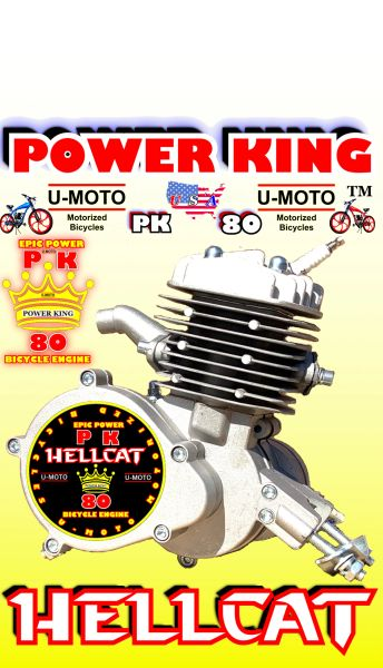 POWER KING HELLCAT (TM) 66/80CC 2-STROKE BICYCLE MOTOR (MOTOR ONLY)