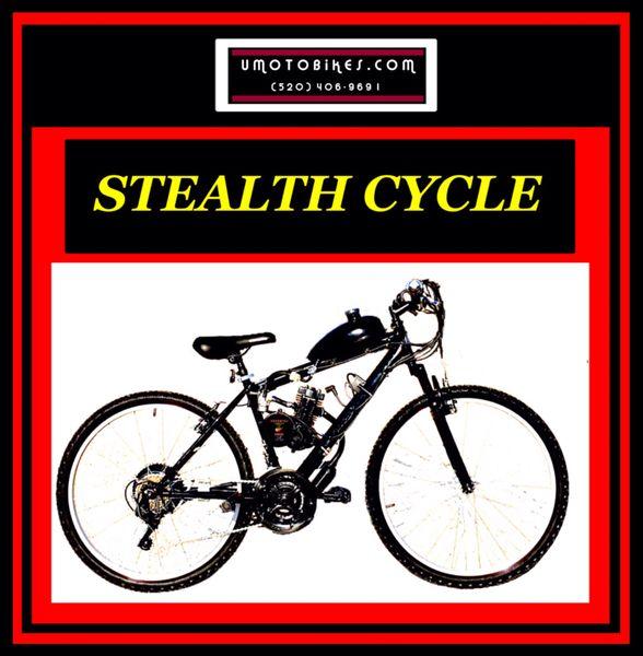 DO-IT-YOURSELF U-MOTO 2-STROKE STEALTH (TM) MOTORIZED MOUNTAIN BIKE SYSTEM