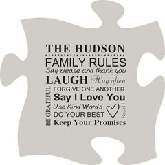 Family Rules Puzzle Plaque