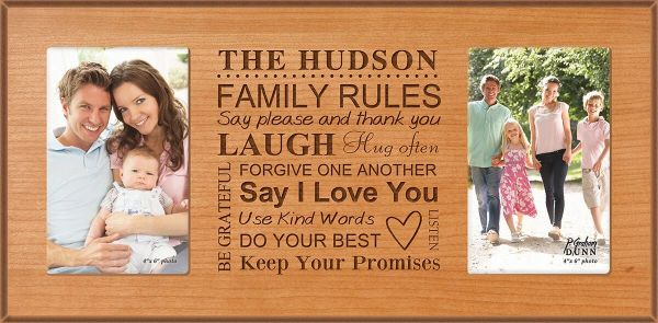 Family Rules Picture Frame