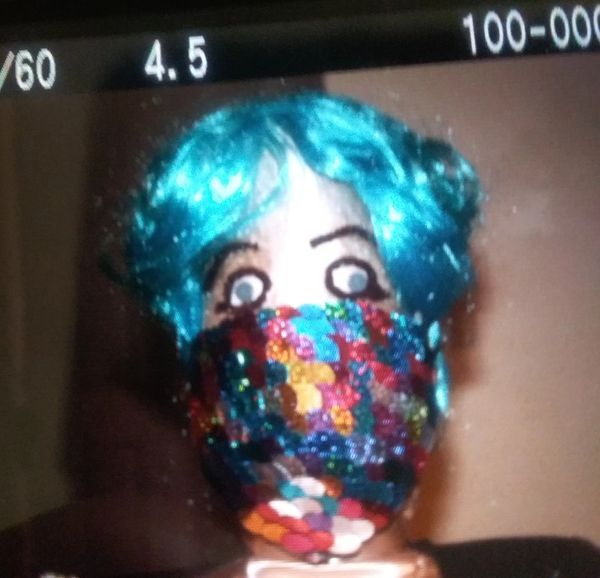 Multi-colored sequins face mask. CUSTOMIZED MASK ALSO AVAILABLE. SEE BELOW.