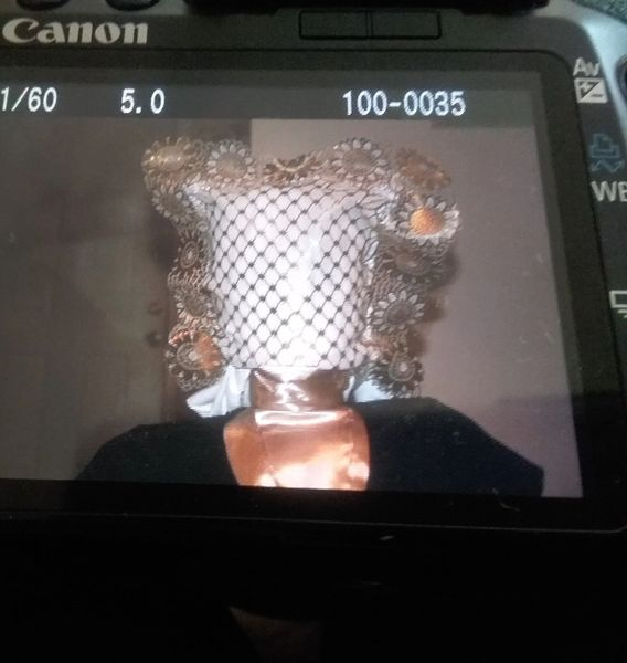 Gold and White full face-----FACE MASK. CUSTOMIZED MASK ALSO AVAILABLE. SEE BELOW.