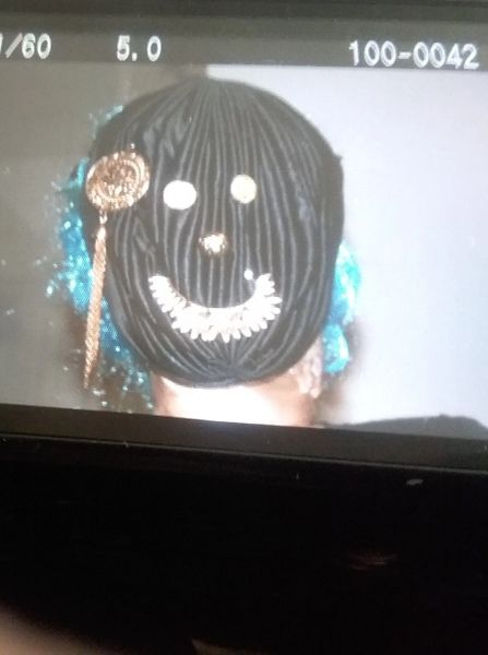 Black and bejewelled Face Mask. CUSTOMIZED MASK ALSO AVAILABLE. SEE BELOW.