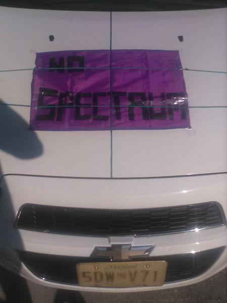 Purple vinyl Poster no spectrum