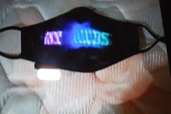 NEON FLASHING FACE MASK. FITS ALL