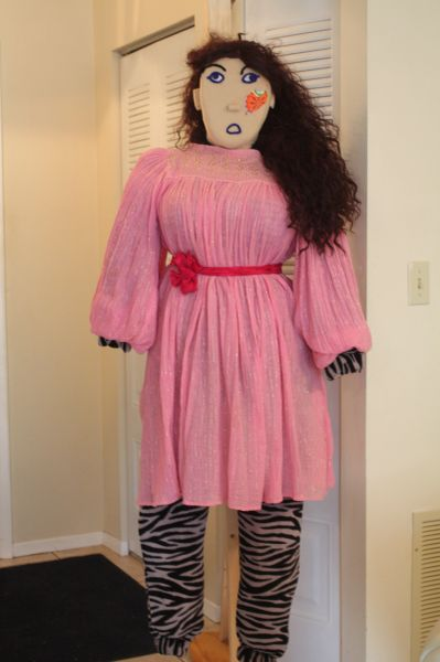 EDGEY IN PINK DRESS WITH WAIST TIE--ALSIO FITS MELODY.