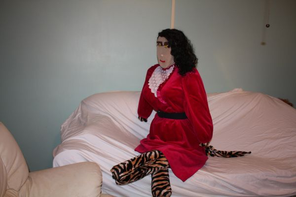 DOLL TIGRESS WHO CAN ALSO TALK AND WALK WENT TO THE PARTY IN A RED DRESS If you need a payment plan, email us at clothadultdolls@hotmail.com.