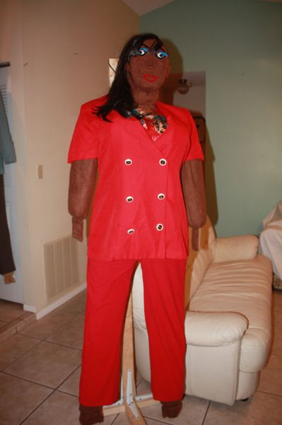 MASCOT KOKO,CAN TALK AND WALK , WENT TO THE PARTY IN A RED PANT SET If you need a payment plan, email us at clothadultdolls@hotmail.com.