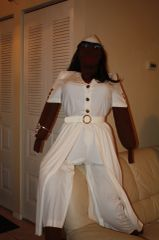 COMPANION FOR SENIOR OR THE SICK, KOKO WHO CAN TALK AND CAN WALK WENT TO A PARTY DRESSED IN WHITE. If you need a payment plan, email us at clothadultdolls@hotmail.com
