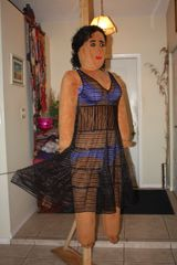 DOLL BEBE IS STUNNING IN HER SEE THROUGH DRESS