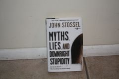 BOOK...MYTHS LIES AND DOWNRIGHT STUPIDITY...BY JOHN STOSSEL. USED BOOK