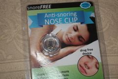 Anti-snoring NOSE CLIP. Stops snoring and helps to prevent high blood pressure.