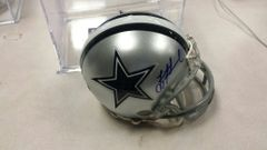 Troy Aikman Dallas Cowboys Autographed Mini Helmet Aikman HOLOGRAM