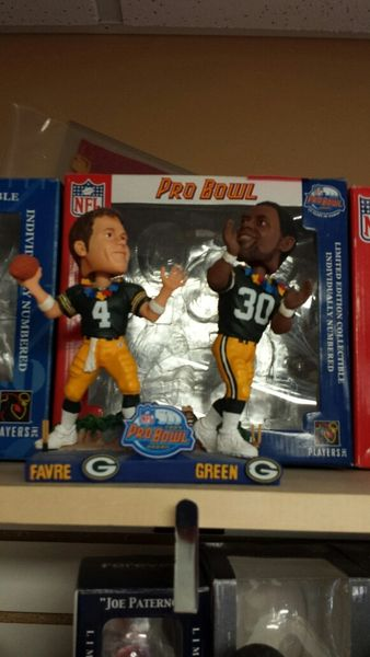 Green Bay Packers Dual Bobblehead Brett Favre & Ahman Green Pro Bowl