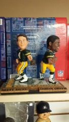 Green Bay Packers Dual Bobblehead Brett Favre & Ahman Green Handoff