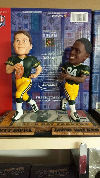 Green Bay Packers Dual Bobblehead Brett Favre & Javon Walker