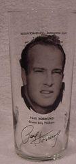 Green Bay Packers Paul Hornung 1970's Pizza Hut Glass MINT!