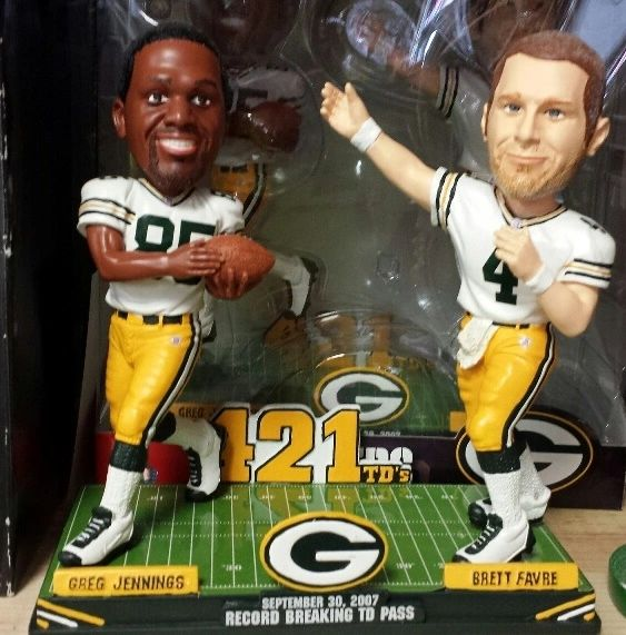 Green Bay Packers Brett Favre/Greg Jennings 421 TD Dual Bobblehead