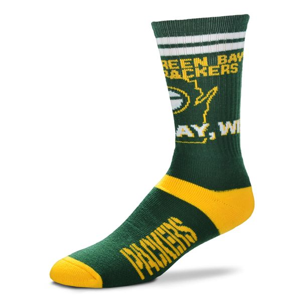 Green Bay Packers State Stripes Socks Size Large